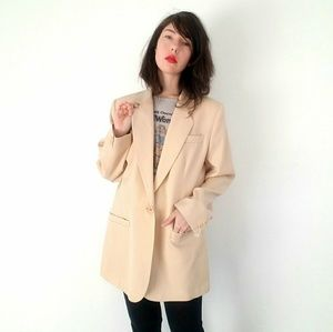 Beautiful Soft Nude Oversized Blazer Lands'end